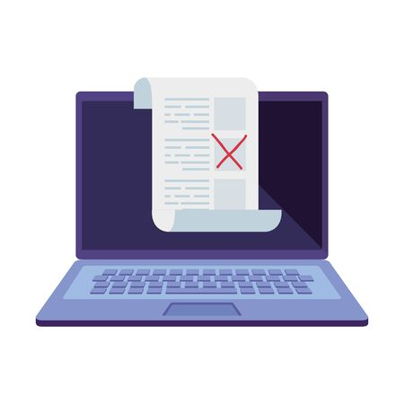 computer for vote online isolated icon vector illustration design
