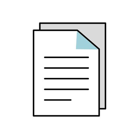 paper document report isolated icon vector illustration design  イラスト・ベクター素材