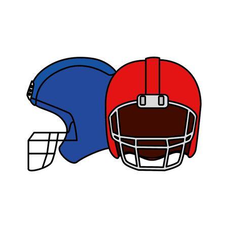 american football helmets isolated icon vector illustration design