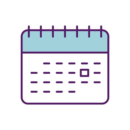Calendar design, Planner time event moth date day page plan and reminder theme Vector illustration
