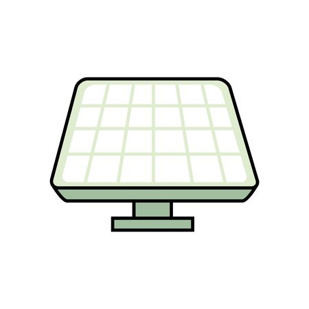 panel solar alternative isolated icon vector illustration design