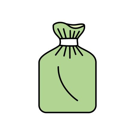 bag of plastic isolated icon vector illustration design