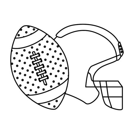 ball and american football helmet isolated icon vector illustration design Stock Illustratie