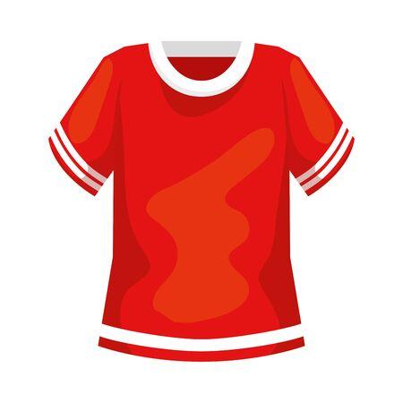 american football shirt isolated icon vector illustration design 向量圖像