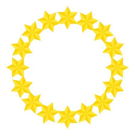 frame circular of stars david isolated icon vector illustration design