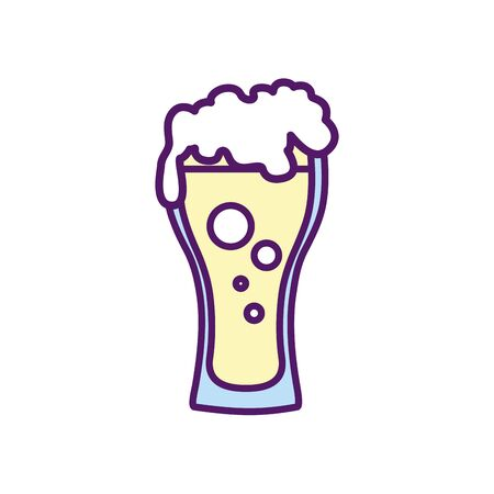 Beer glass design, Pub alcohol bar brewery drink ale and lager theme Vector illustration