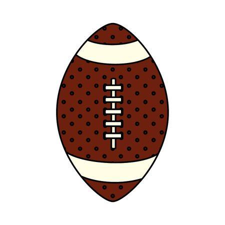 ball american football isolated icon vector illustration design