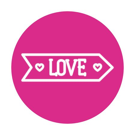 love label on pink background vector illustration design  イラスト・ベクター素材
