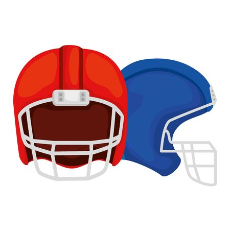 american football helmets isolated icon vector illustration design
