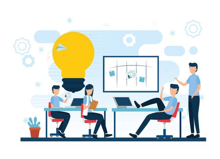 Businesspeople design, Teamwork support collaborative cooperation work unity and idea theme Vector illustration