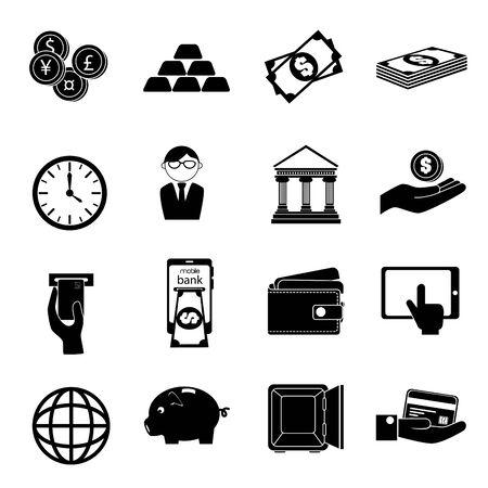 bundle of business set icons vector illustration design Stock Illustratie
