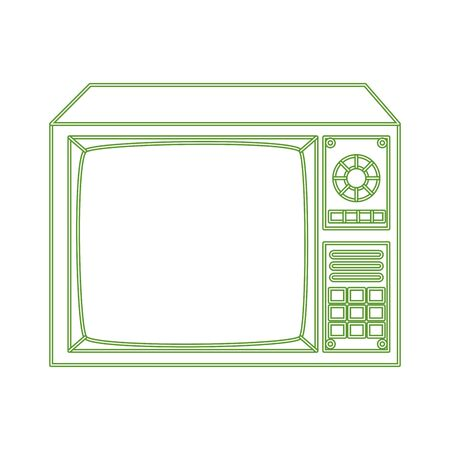 tv nineties retro style neon light isolated icon vector illustration design 向量圖像