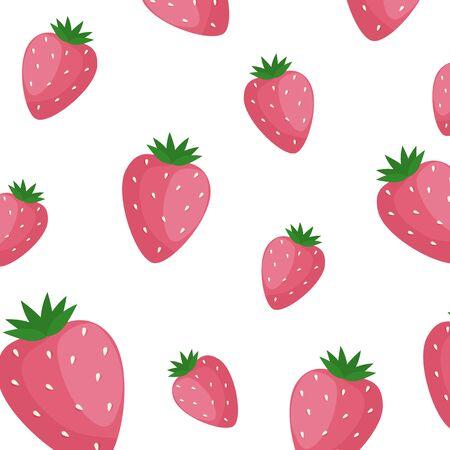 background of delicious strawberries fruits vector illustration design Ilustração