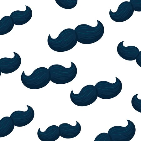 Male mustaches background design, Hair gentleman man style face retro facial beard and fashion theme Vector illustration