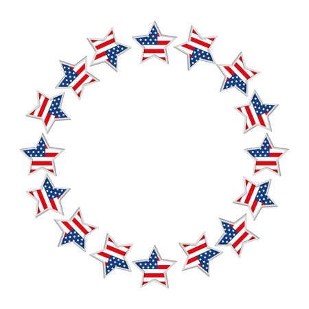 Usa stars circle design, United states america independence labor day nation us country and national theme Vector illustration
