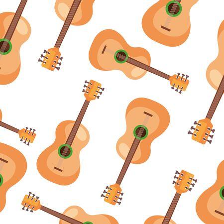 background of guitars instruments musical vector illustration design