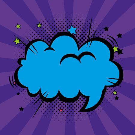 speech bubble pop art style vector illustration design Ilustracja