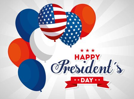 Balloons design, Usa happy presidents day united states america independence nation us country and national theme Vector illustration