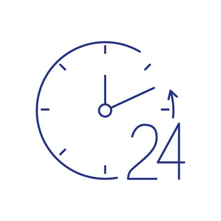 24 hour attention signaling isolated icon vector illustration design
