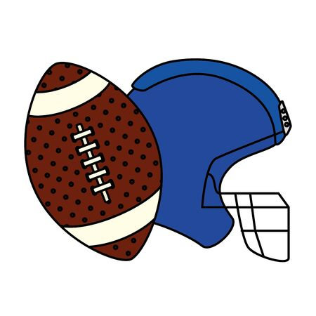ball and american football helmet isolated icon vector illustration design Ilustrace