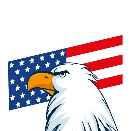 Usa eagle and flag design, United states america independence nation us country and national theme Vector illustration