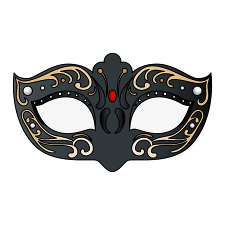 elegant mask fantasy isolated icon vector illustration design 矢量图像