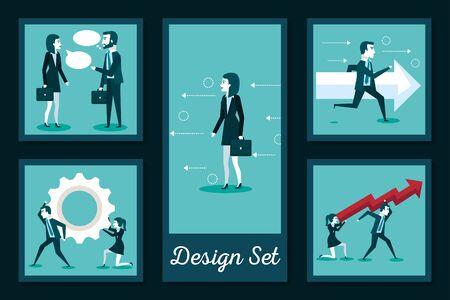 designs set of business people vector illustration design