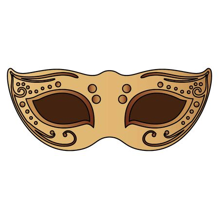 elegant mask fantasy isolated icon vector illustration design Ilustração