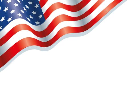 Usa flag design, United states america independence labor day nation us country and national theme Vector illustration  イラスト・ベクター素材