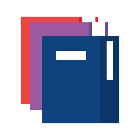 pile text books education icons vector illustration design 向量圖像