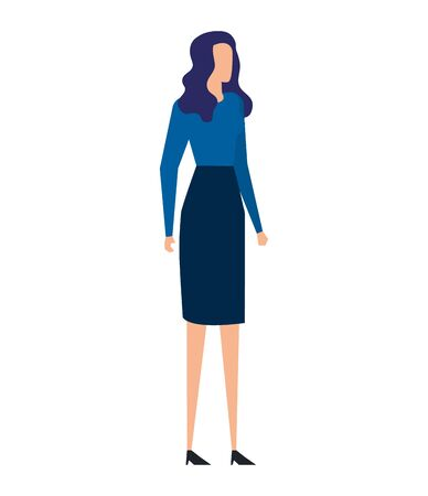 elegant young businesswoman avatar characters vector illustration design 向量圖像