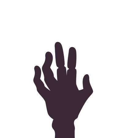 hand of zombie for halloween vector illustration design 向量圖像