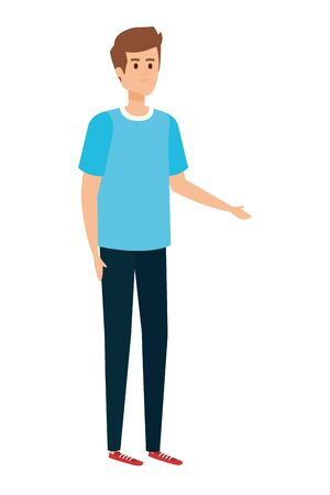 young and casual man character vector illustration design Ilustracja