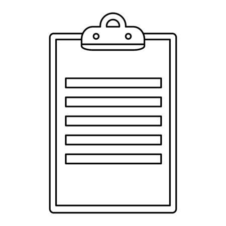 clipboard checklist document isolated icon vector illustration design Ilustracja