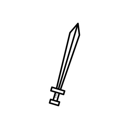 knight sword fairytale fantastic isolated icon vector illustration design