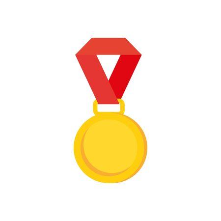 Medal design, Winner competition success sport achievement leadership and challenge theme Vector illustration Ilustracja