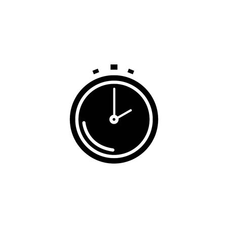 silhouette of chronometer time equipment isolated icon vector illustration design 向量圖像