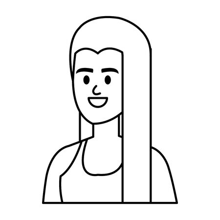 young woman avatar character vector illustration design Ilustracja