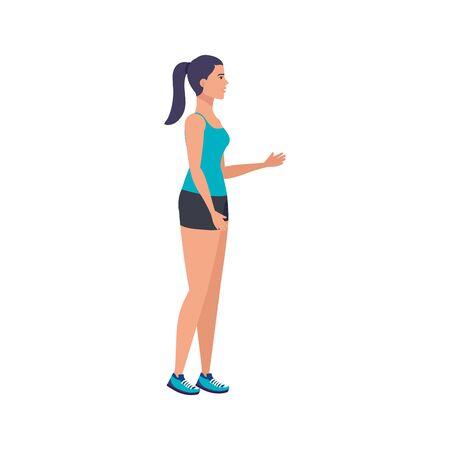 young woman athlete avatar character vector illustration design Ilustracja