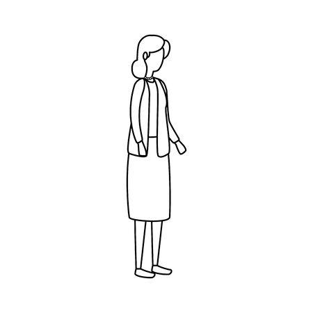 cute grandmother avatar character icon vector illustration design