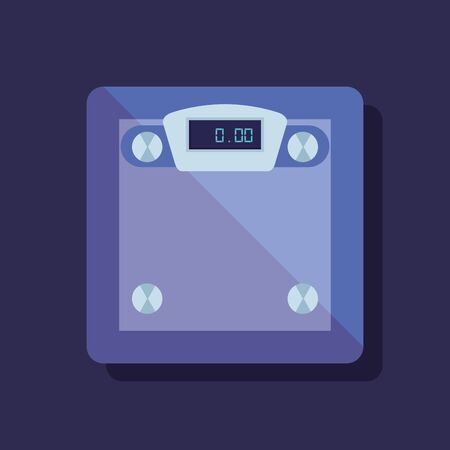 weighing machine and healthy sport balance to fitness lifestyle, vector illustration