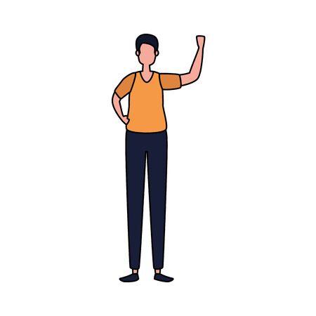 elegant businessman worker avatar character vector illustration design Ilustracja