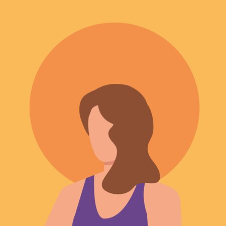 beautiful and young woman character vector illustration design Ilustracja