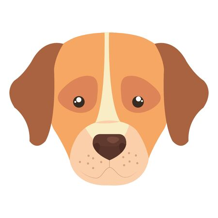 head of cute dog animal isolated icon vector illustration design 일러스트
