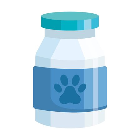 bottle dog medicine isolated icon vector illustration design Vettoriali