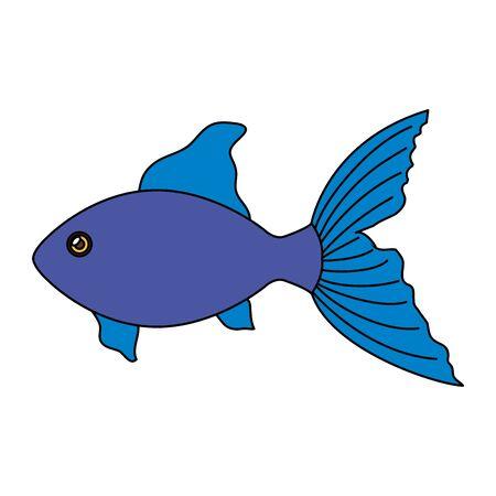 cute fish animal isolated icon vector illustration design