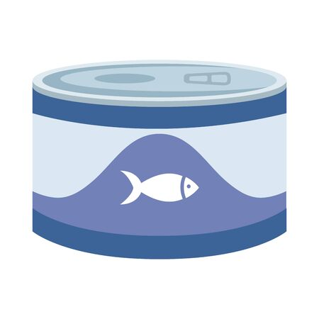 food for fish in can isolated icon vector illustration design 向量圖像