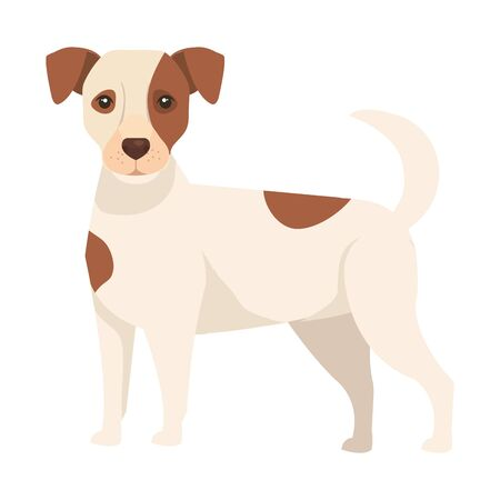 white dog with brown spotted isolated icon vector illustration design Ilustrace
