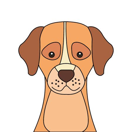 head of cute dog animal isolated icon vector illustration design 向量圖像