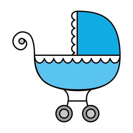 baby cart transportation isolated icon vector illustration design